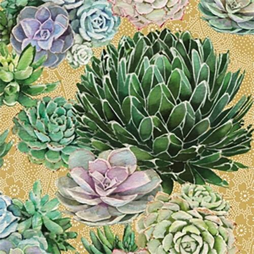 """ppd 20 Servietten /""""Succulents/"""" 33 x 33 cm Serviettentechnik Napkins"""