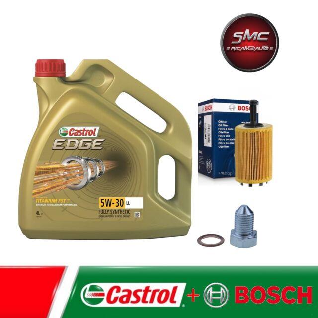 Inspektionskit FILTRO DELL'OLIO BOSCH + 4l OLIO CASTROL EDGE 5w30 AUDI VW SEAT SKODA TDI