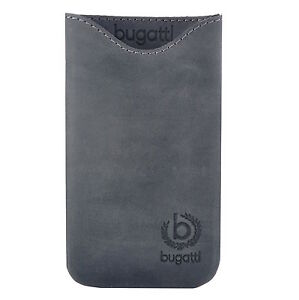 Bugatti-Tasche-Skinny-Ledertasche-07901-Groesse-M-steel-fuer-Apple-iPhone-4S