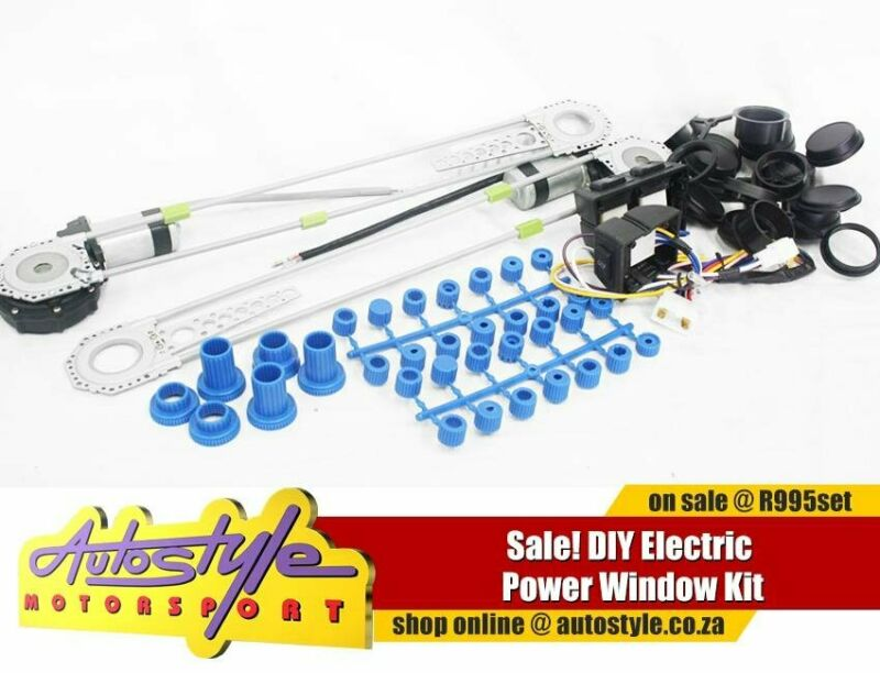 DIY Electric Window Kit, includes ALL fittings and plugs as well as covers to conceal the spaces lef