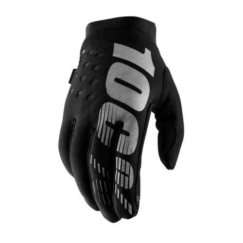 100/% Brisker Gloves Large Black//Gray