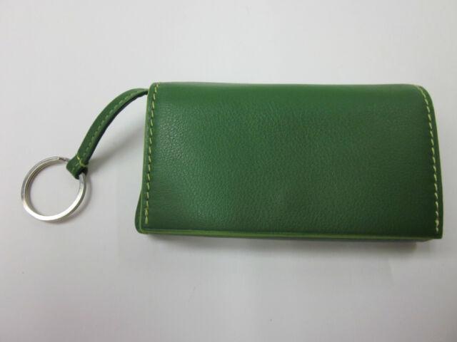 Bosca Womens Leather Key Ring Card Case Pouch Mini Wallet  dd56c8099