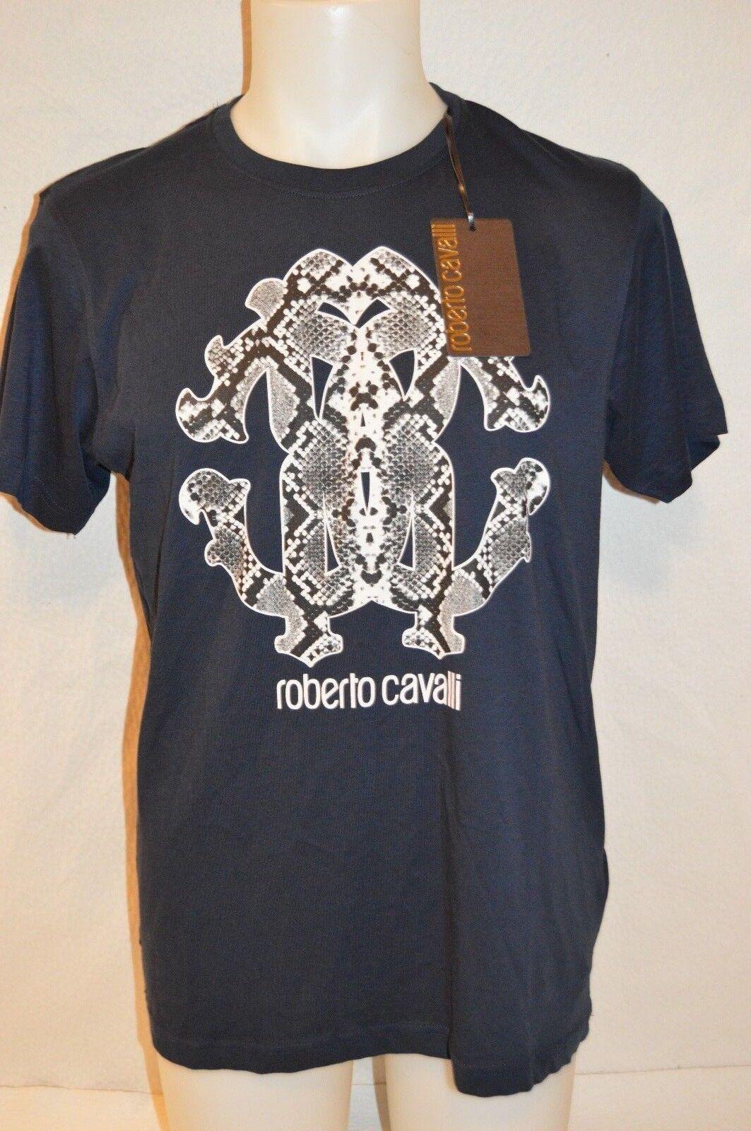 ROBERTO CAVALLI Man's Graphic Snake Print T-shirt Size X-Large NEW Retail