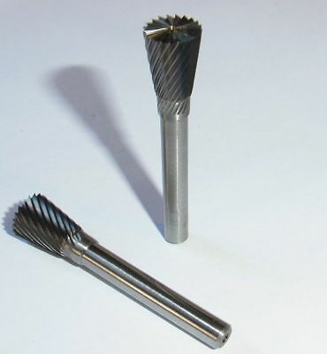 2 Frässtifte HM Schaft 6 mm Schleifstifte Rotierfräser Fräser Schleifen *110K*