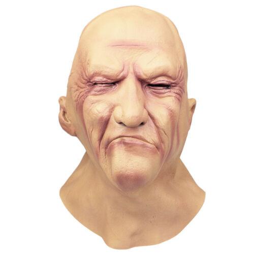 Réaliste Homme Masque Vieux Mâle Déguisement Halloween Déguisements Bruiser videur latex