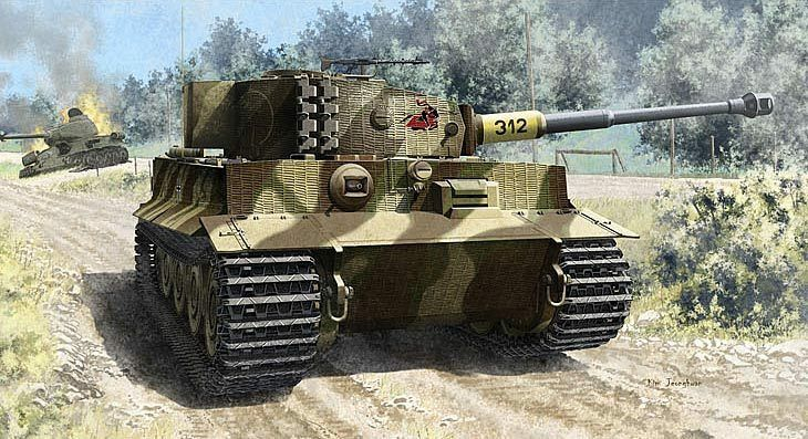 Academy 1 3 5 (13314)  Tank Tiger 1, Late Version, Late