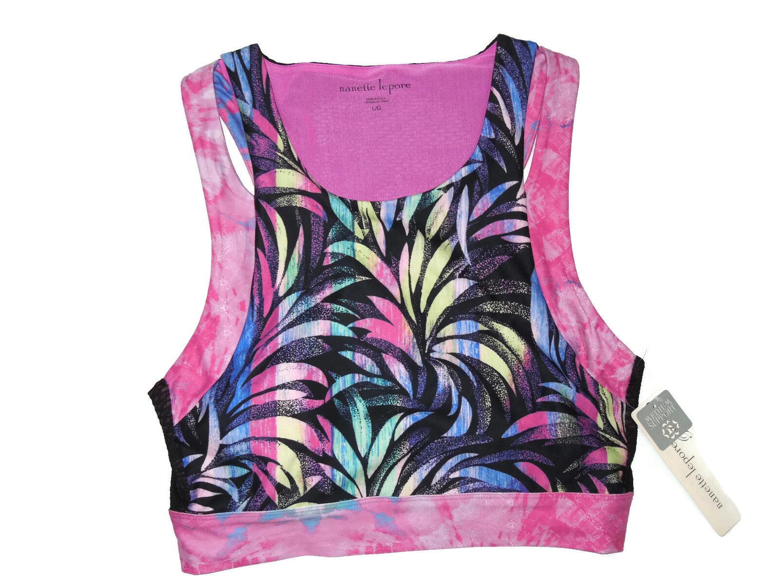 Nanette Lepore tropical print corset Crop Top size MEDIUM retail  58