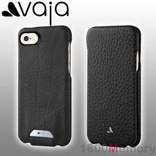 "GENUINE Vaja Top Flip Floater Premium Leather Case Black for Apple iPhone 7 4.7"""