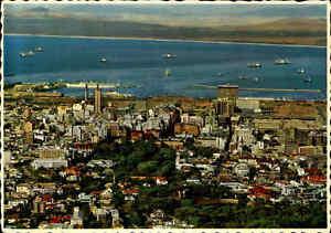 Postkarte-Suedafrika-1970-Kapstadt-Cape-Town-City-Centre-Harbour-South-Africa