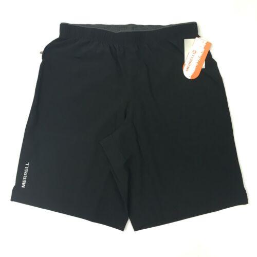 NEW Merrell Torrent Gym Athletic Shorts Men/'s Medium Black Elastic Waist NWT