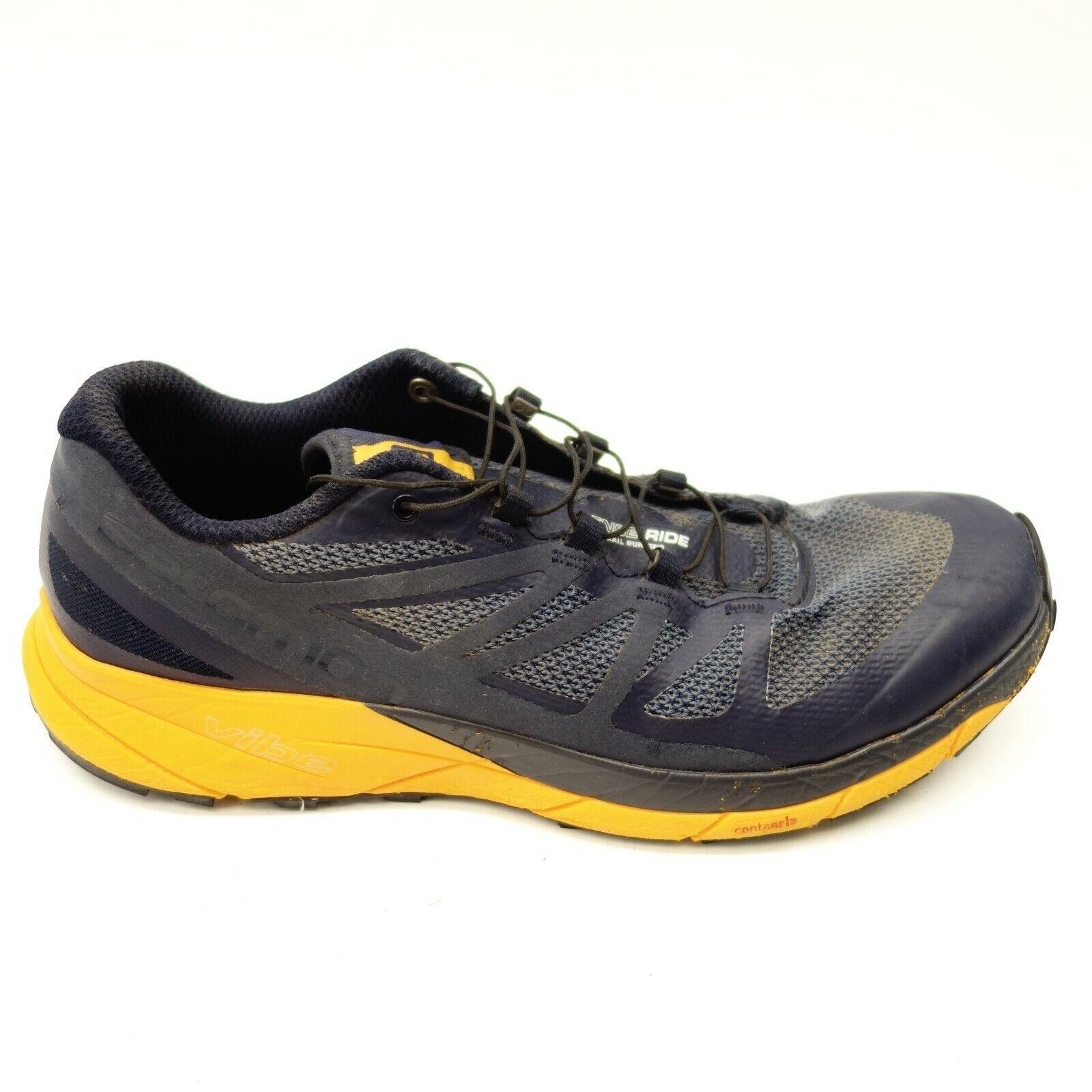 Salomon Sz 9.5 Sense Reite Blau Athletic Wandern Mountain Laufschuhe Herren
