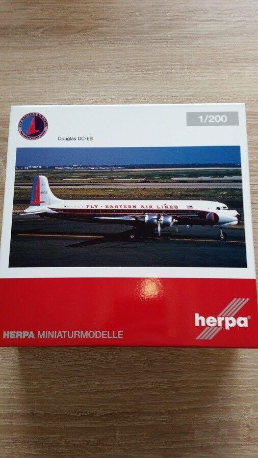 Herpa 558495 - 1/200 Douglas dc-6b - Eastern Air Lines-NUOVO