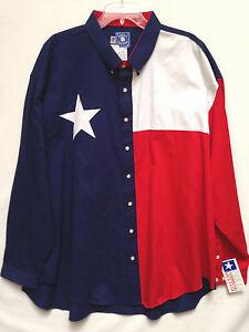 Analytique Homme Texas Coton Rouge Blanc Bleu Texas Lone Star Drapeau à Manches Longues Taille Xxxl Neuf!-afficher Le Titre D'origine Riche En Splendeur PoéTique Et Picturale