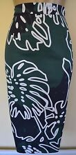 NEW VIVIENNE WESTWOOD 42 STUNNING CHEESE PLANT PRINT WEDDING PENCIL SKIRT £225