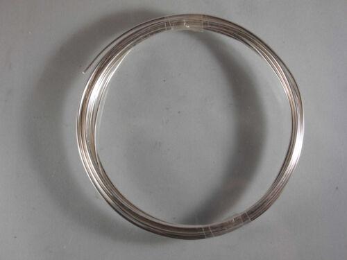 Plata alambre de cable de cobre plateado basteldraht joyas alambre 1mm 1,5 2,0 2,5 mm