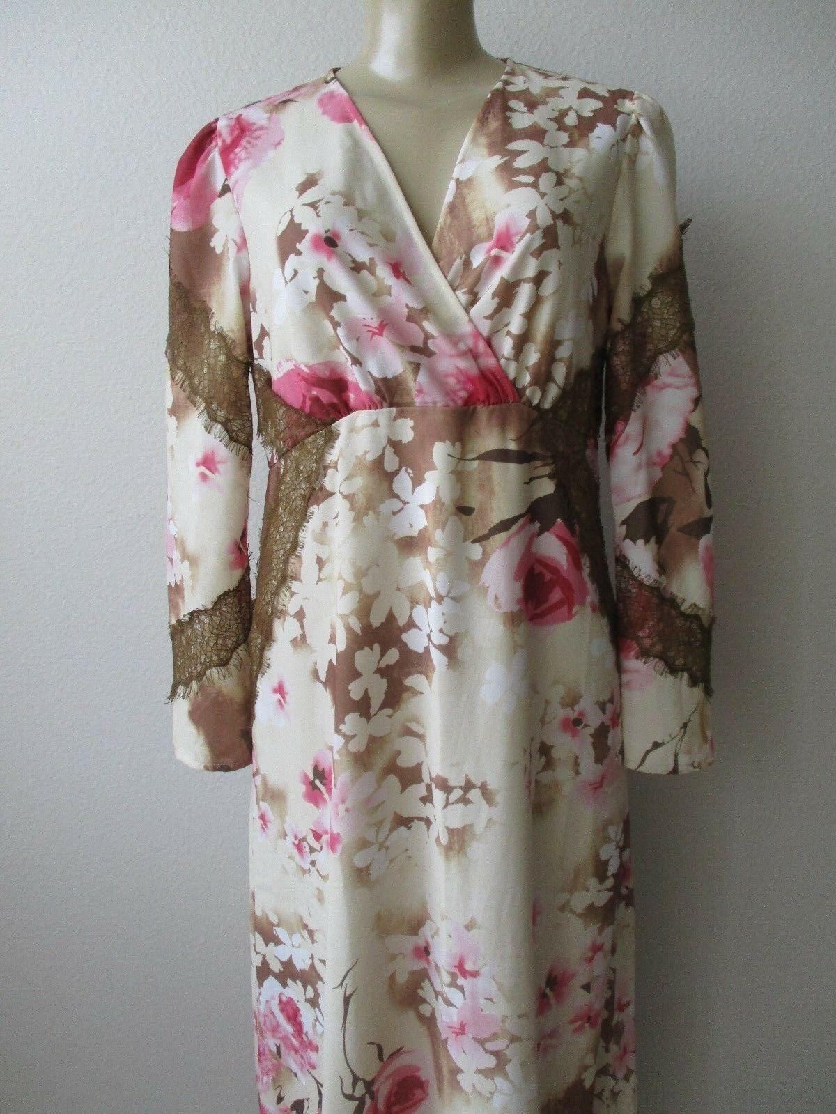 LA BELLUM BY HILLARY SCOTT FLORAL LACE MAXIE LONG DRESS SIZE 4 - NWT