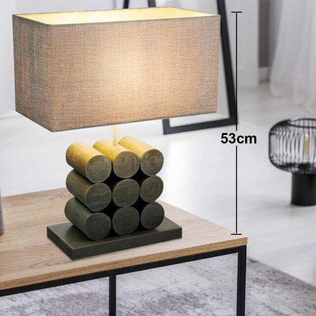 Textil Steh Lampe Wohn Zimmer Decken Fluter Beleuchtung Stand Leuchte weiß grau