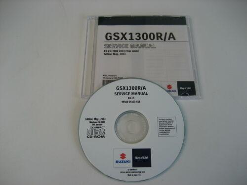 SUZUKI GSX1300R HAYABUSA K8 REPARATUR CD WERKSTATT HANDBUCH ...