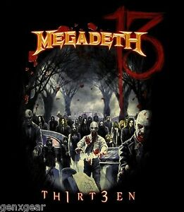MEGADETH-cd-lgo-ZOMBIE-GROUP-13-Official-SHIRT-SMALL-New-th1rt3en-OOP
