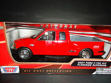 Motormax Ford F150 XLT Flareside Supercab 2001 Red 1/24
