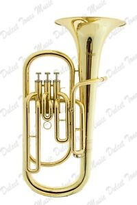 Musical Instruments & Gear Stagg Bb Three Valve Baritone Horn Brass Body Clear Lacquer Finish Fast Postage Brass