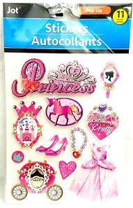 PRINCESS Girl - Jot 3D Scrapbook Craft Sticker