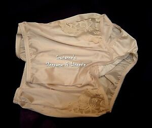 XL 4 prs VANITY FAIR Brief PERFECTLY YOURS LACE 13001 Panty FAWN 8