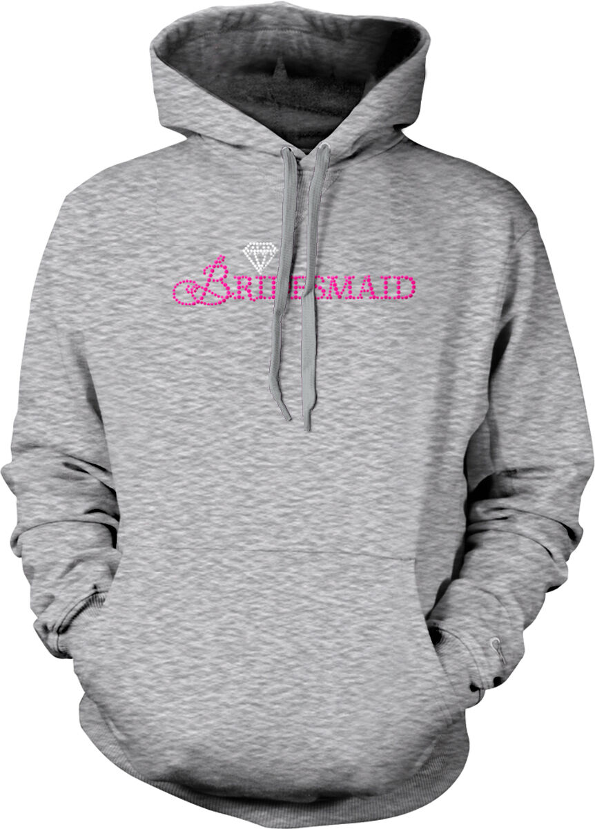 Bridesmaid Wedding Bridal Party Diamond Ring Bachelorette Wife Hoodie Sweatshirt