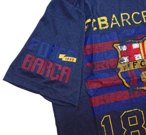 Fc Barcelona Fan T-Shirt Official Licensed Navy Blue Messi 10