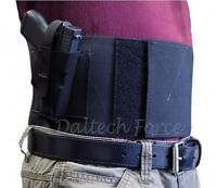 S&w Shield Belly Band Gun Holster 4 Wide Ccw Usa Made - Black