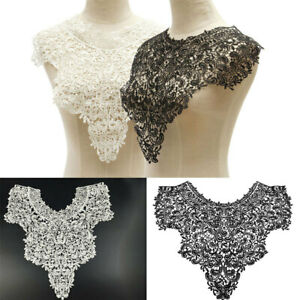 Lace-Flower-Applique-Badge-Embroidered-Neckline-Collar-Sew-on-Iron-on-Patch-DIY