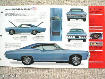 1967/1968 Chevrolet Impala Ss-427/ss427 Imp Opuscolo Modelli Alla Moda