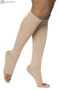 Mediven Plus 20-30 mmHg Open Toe Knee High Stockings with Silicone Top Band