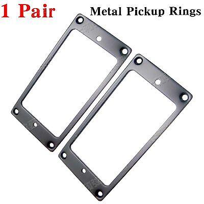 Black Metal Flat Electric Guitar Humbucker Pickup Ring Frame Mounting Ring...
