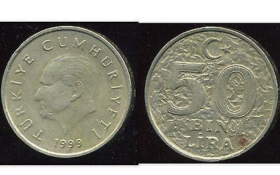 etat TURKEY  TURQUIE 50 bin  lira  1998