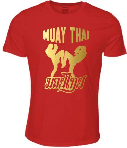 Muay Thai Kick Boxing T-Shirt Thailand Martial Arts Fighting Thai Boxing Top
