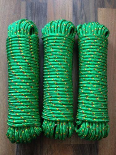 Nr.16 Polypropylen Reepschnur 8 mm x 30m,Tauwerk,Leine,Spannseil,Seile,Tau Grün