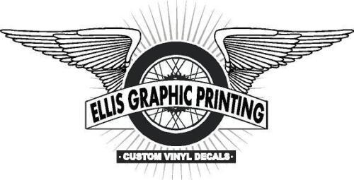 "#515 3.5/"" #1 Vintage superbike sponsor decal racebike race vinyl CBR CB"