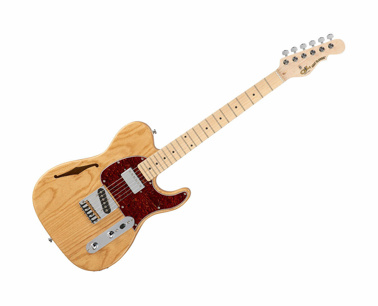 G&L Tribute ASAT Classic blueesboy Semi-Hollow Natural w  Maple Fingerboard