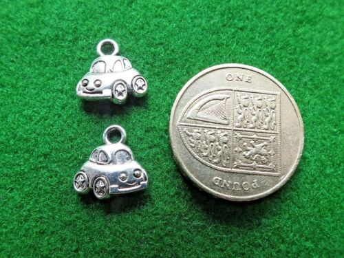 Car Antique Silver Tibetan Double Sided Charm Craft Toys Baby Children