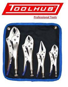 Tool-Hub-9429-4-Piece-Heavy-Duty-Grip-Wrench-Set-Vice-Locking-Lock-Pliers-Mole