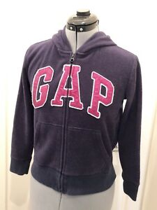 NEW GAP EMBELLISHED PURPLE HOODIE SIZE M 8 XL 12