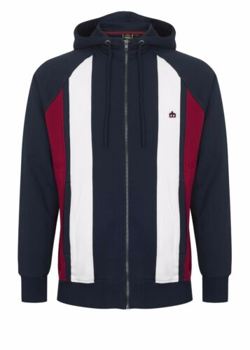 Hainton Zip London Top Up Sweatshirt Merc Mens Blue Panel Hooded Navy Stripe xznZ8A