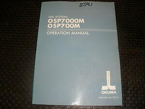okuma osp700m 7000m control operation manual ebay rh ebay com Gosiger Okuma Okuma Control Auto Mode