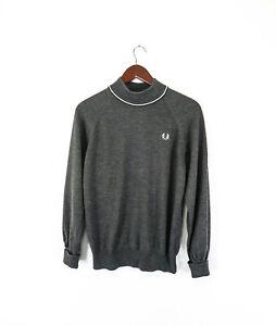 6e6a34b8fd081 Fred Perry 100% Merino wool Men s Jumper Sweater Size 42     106 cm ...