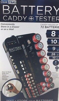 Holds 72 batteries Sterling Tools Battery organizer and Power Tester