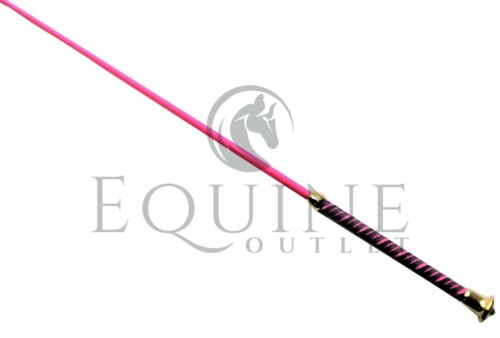 Colourful Schooling Whip with Gold End 100cm