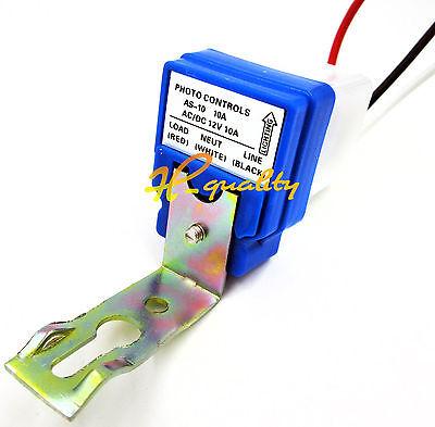 1/2/5PCS AC DC12V 24V 220V 10A Auto On Off Photocell Street Light Sensor Switch