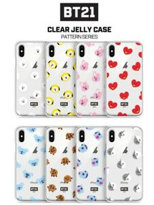 brand new aab48 96c15 Details about BTS BT21 Official Goods Character Phone Case Clear Jelly Case  LINE FRIENDS
