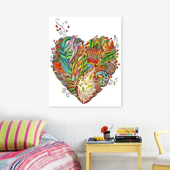 3D Farbe Bltter Liebe Muster 8 Fototapeten Wandbild BildTapete AJSTORE DE Lemon